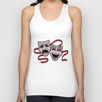 Comedy And Tragedy Theater Masks Unisex Tank Top