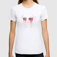 Blood Red Eyes Womens Fitted Tee Ash Grey SMALL