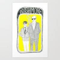 Art Print featuring Rushmore by Mexican Zebra