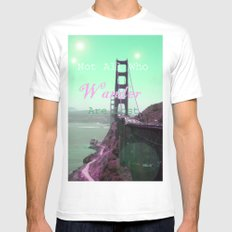 Wander White Mens Fitted Tee SMALL