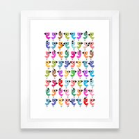 Bird is the Word! Framed Art Print