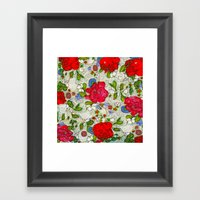 the garden of roses Framed Art Print