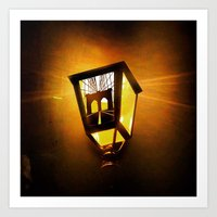 Brooklyn Bridge Lantern Art Print