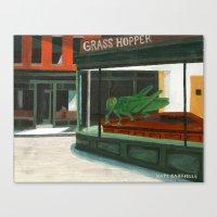 Grass Hopper Canvas Print