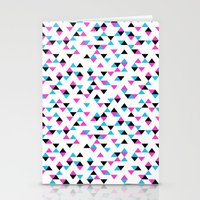 Electric Triangles Stationery Cards