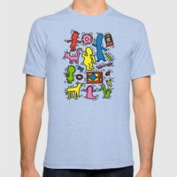Haring - Simpsons Mens Fitted Tee Tri-Blue SMALL