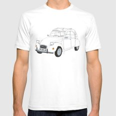 Citroën 2CV SMALL White Mens Fitted Tee
