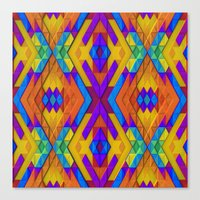Colorful Geometry Canvas Print