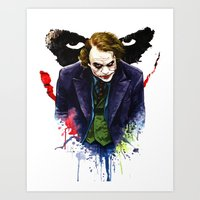 Angel Of Chaos (The Joke… Art Print