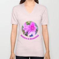 pretty purple garden flowers. nature is beautiful. floral photo art. Unisex V-Neck