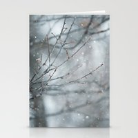 Snowy Winter Branches Stationery Cards