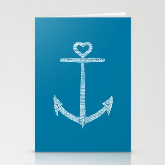 Love is the anchor Stationery Card