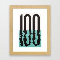 #100 Framed Art Print