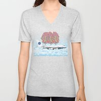 Happy Plane Unisex V-Neck