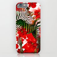 zebra iPhone & iPod Cases featuring Zebra by Saundra Myles