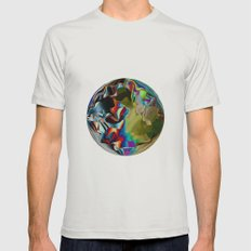 Pixelation  Mens Fitted Tee Silver SMALL