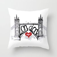 London With Love Throw Pillow