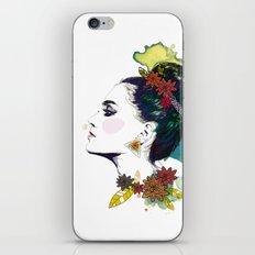 Profile of woman Bun iPhone & iPod Skin