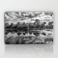 Green Cay Wetlands in Black and White Laptop & iPad Skin