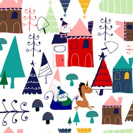 Art Print - Christmas unicorn - BruxaMagica_susycosta
