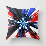 USA Tech Flag Throw Pillow