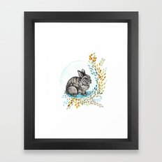 Rustic Rabbit Framed Art Print