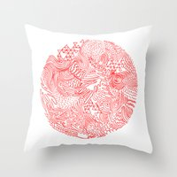 Earthquake Throw Pillow