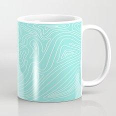 Ocean depth map - turquoise Mug