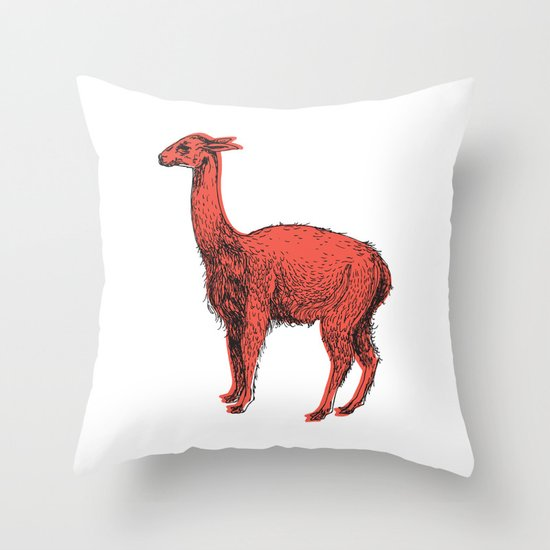 vicuña Throw Pillow