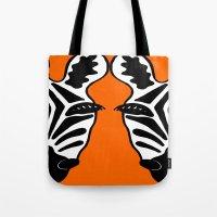 Two Face Zebra Tote Bag