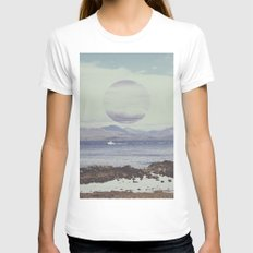 Waterside Womens Fitted Tee White SMALL