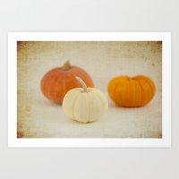 Three Little Pumpkins Art Print