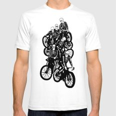 The Gang White SMALL Mens Fitted Tee