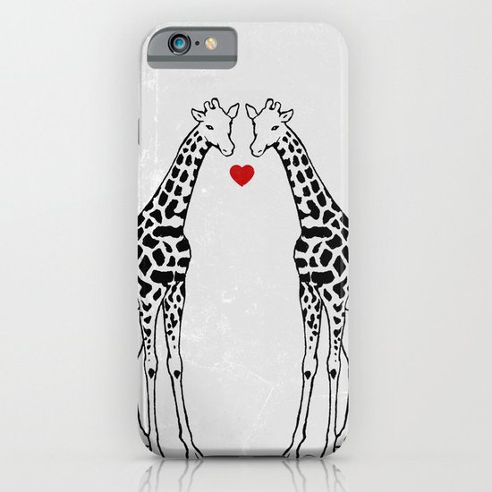 Giraffe Love iPhone & iPod Case