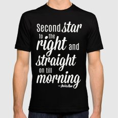 Peter Pan Quote SMALL Mens Fitted Tee Black