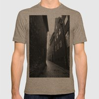The Alley Photo In Black… Mens Fitted Tee Tri-Coffee SMALL