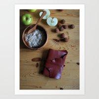 Book and oatmeal Art Print