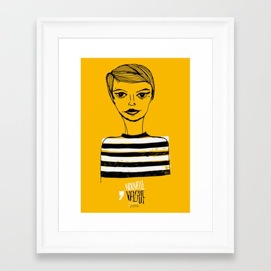 Jean Seberg  Framed Art Print