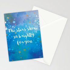 The Stars Shone So Brightly For You Stationery Cards