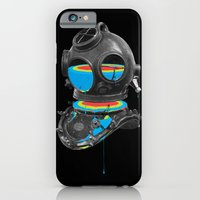 iPhone Cases featuring Diver No.12 by Eric Zelinski