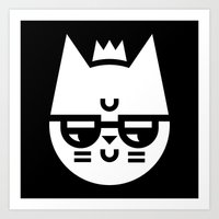 Cynical Cat Art Print