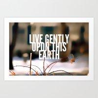 Upon This Earth Art Print