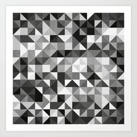 pillow pattern bw #2 Art Print