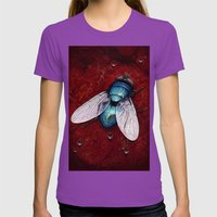 Green Bottle fly Womens Fitted Tee Ultraviolet SMALL