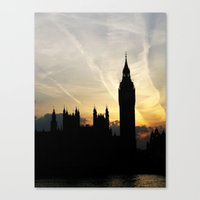 London - Big Ben Sunset Canvas Print