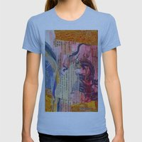 Collage Love - Zhong Lon… Womens Fitted Tee Athletic Blue SMALL