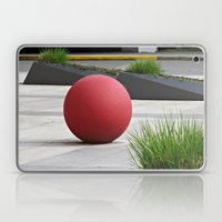 Round and Red Laptop & iPad Skin