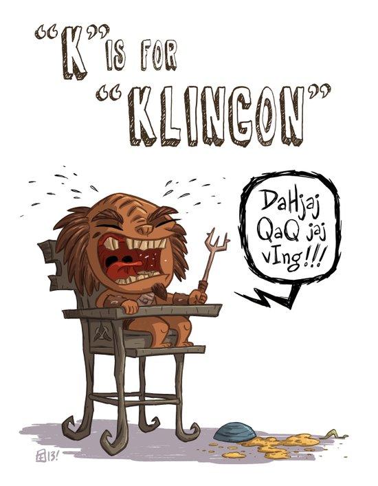 """""""K"""" Is For """"Klingon"""" Art Print"""
