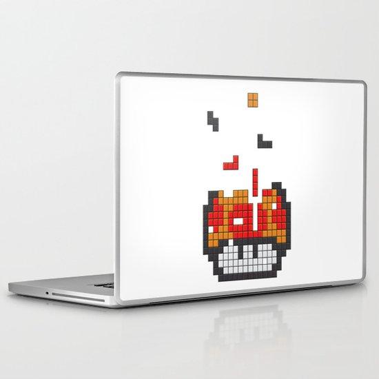 Super Mario Mushroom Tetris Laptop & iPad Skin