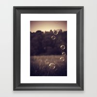 Bubbles 3 Framed Art Print